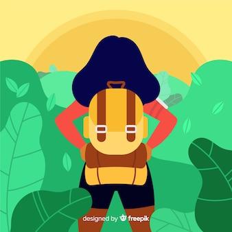 Explorer com mochila