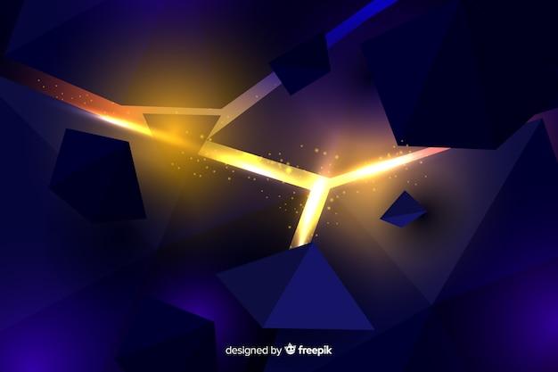 Explosão 3d com luz de fundo