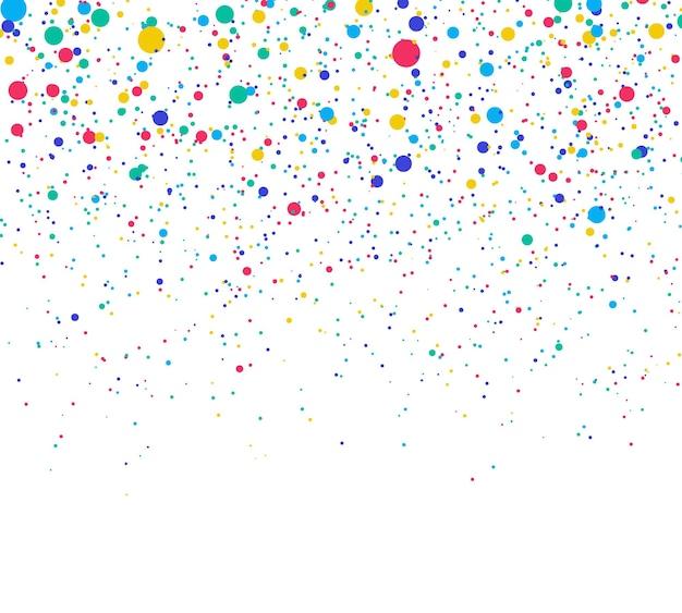 Explosão abstrata de confete serpentina colorida aleatória de bolinhas caóticas