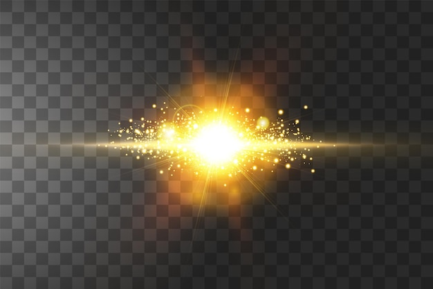Explosão brilhante, efeito de luz.