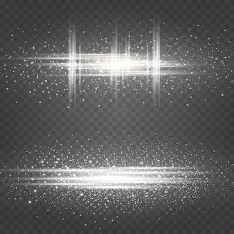 Explosão cósmica de partículas luminosas.
