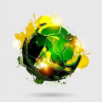 Explosão de bola de futebol branco