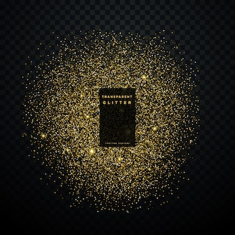 Explosão de brilho de ouro brilhos brilhantes confetes de fundo