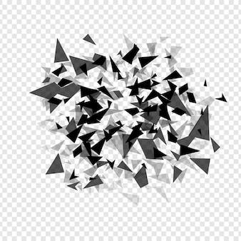 Explosão de chapeleiro de hexágonos abstratos modelo de fundo de textura geométrica isolado ilustração vetorial