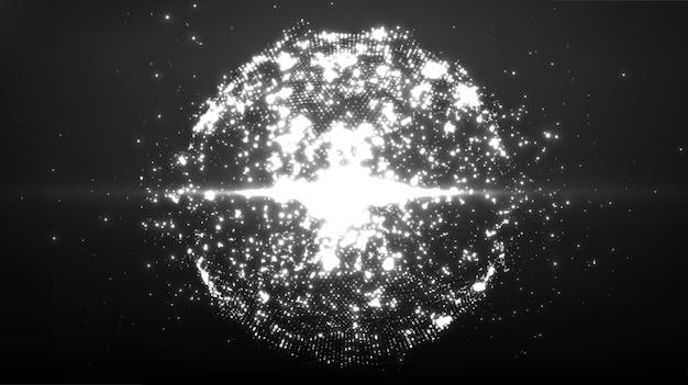 Explosão de esfera abstrata.