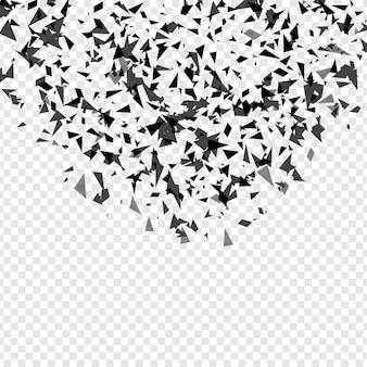 Explosão de estilhaçamento abstrato. molde geométrico do fundo da textura isolado. ilustração vetorial.