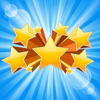Explosão de estrela abstrata com reflexos de raios