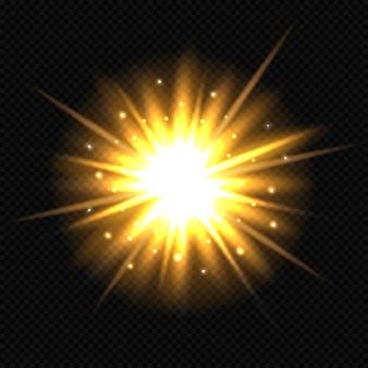 Explosão de estrela laranja brilhante.