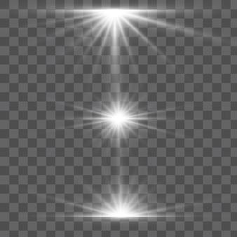 Explosão de explosão de luz brilhante transparente.
