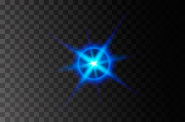 Explosão de explosão de luz brilhante