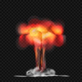 Explosão de fogo realista