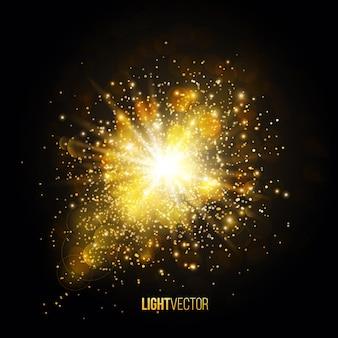 Explosão de fundo com brilhos