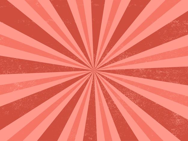 Explosão de fundo retrô vermelho