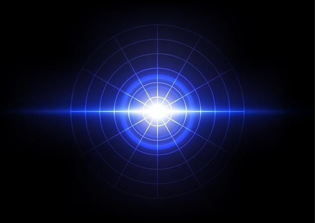 Explosão de luz abstrato, tecnologia de conceito sônico de onda de energia