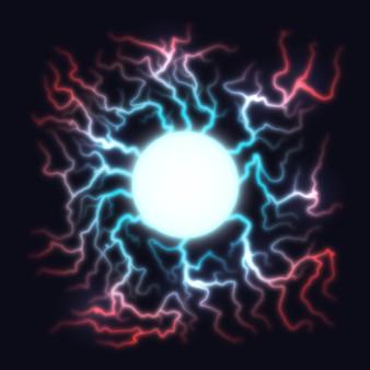 Explosão de luz elétrica bola experimento