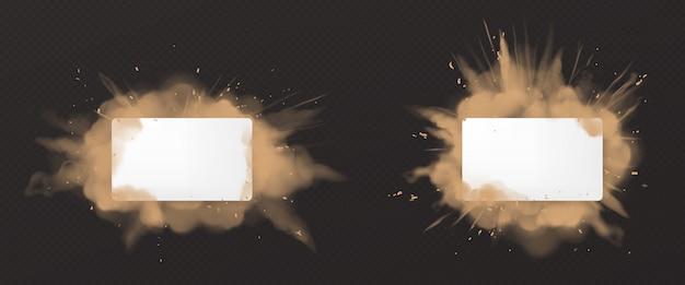 Explosão de poeira com branco