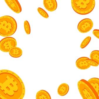 Explosão de queda de bitcoin