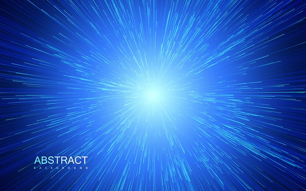 Explosão de raios de luz abstrato