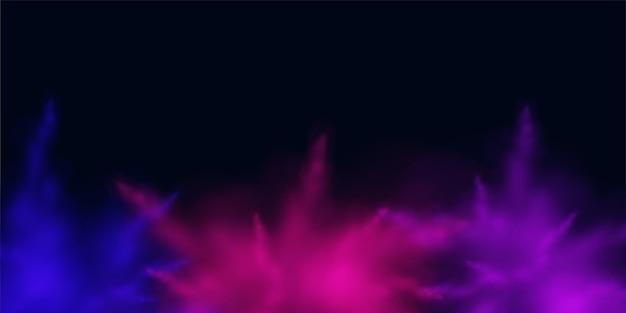 Explosão realista de ilustração colorida de fundo de pintura