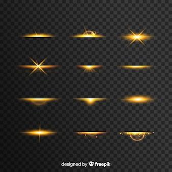 Explosão realista de luz collectio