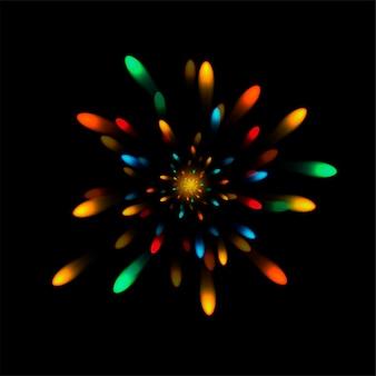 Explosão realista. fogos de artifício. flash brilhante