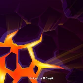 Explosão tridimensional com luz de fundo
