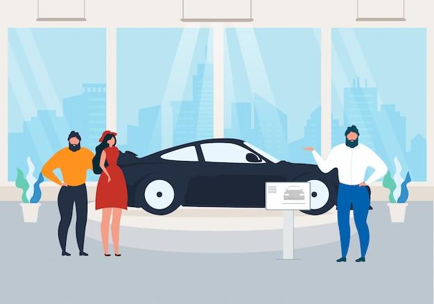 Exposição, apresentação de novo modelo de carro no showroom