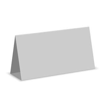 Exposição branca vazia da tabela isolada. cartão de calendário de papel