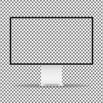 Exposição de computador com tela transparente.