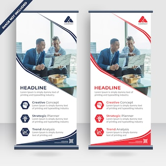 Exposição moderna publicidade tendência negócios roll up banner stand