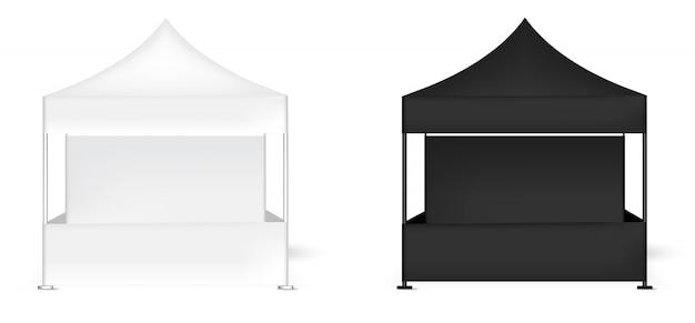 Exposição realística da barraca 3d
