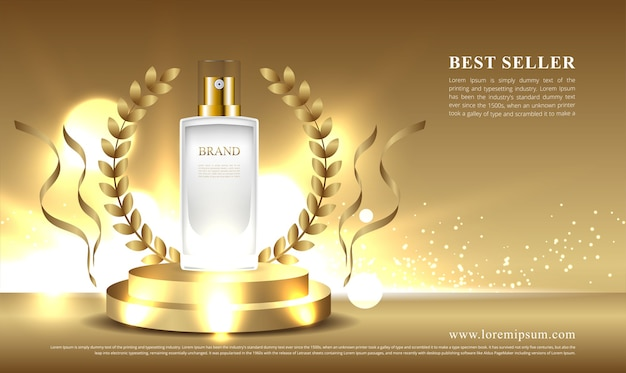 Expositor de cosméticos vencedor e mais vendido