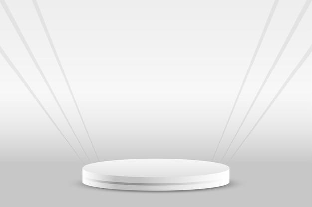 Expositor de produto branco do pódio vazio
