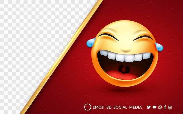 Expressão de emoji rindo alto