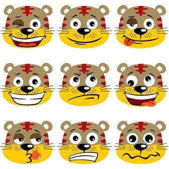 Expressão facial bonito do tigre