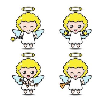 Expressões de anjo fofas