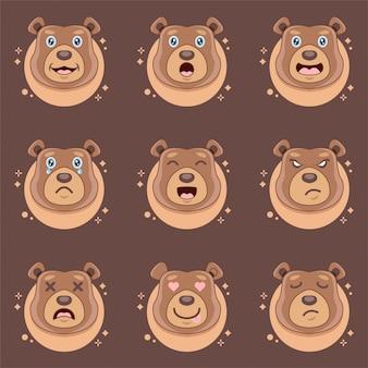 Expressões de urso fofo