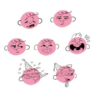 Expressões faciais dias da semana