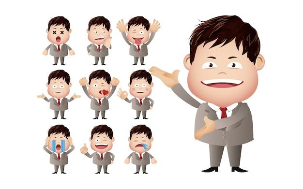 Expressões faciais do homem