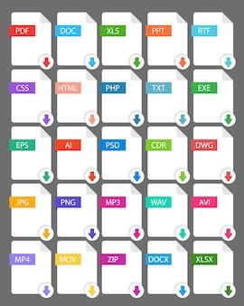 Extensão de arquivo - definir ícone de cor