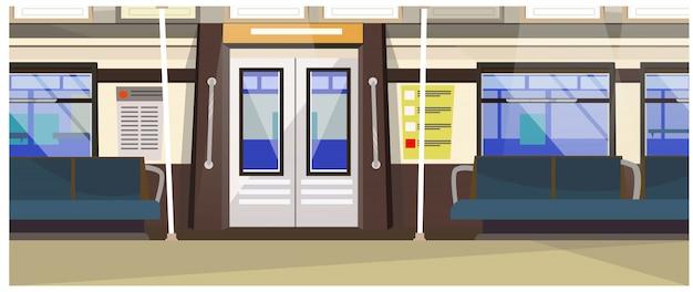 Exterior, de, subterrâneo, trem, ilustração