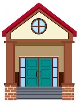 Exterior, de, um, edifício, entrada