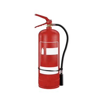 Extintor de incêndio realista. ilustração vetorial.
