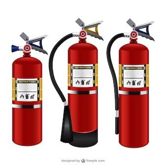 Extintores de incêndio embalar