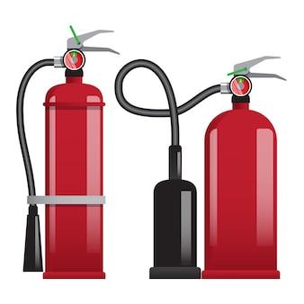 Extintores tipo vermelho