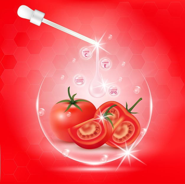Extrato de colágeno e vitamina de soro corporal branco de tomate