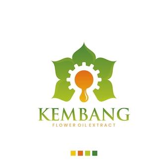 Extrato de flor, inspiração de design de logotipo