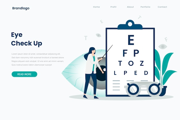 Eye check up landing page template.