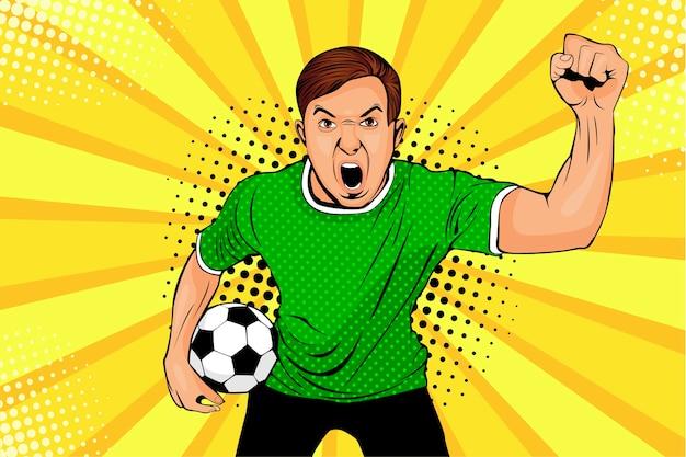 Fã de futebol comemora vitória e gol