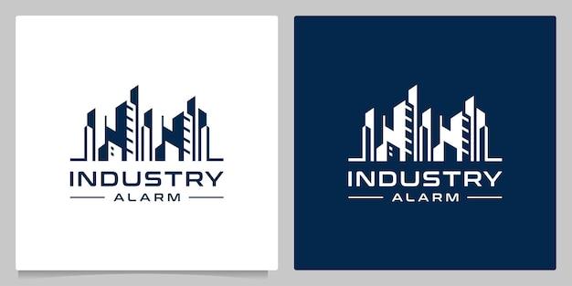 Fábrica da indústria de construção - town logo design graphics